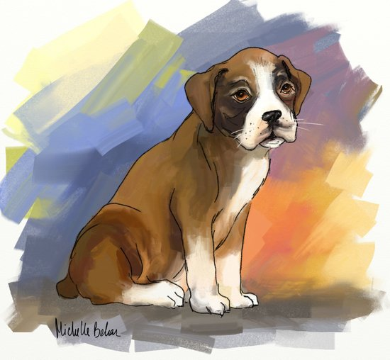 Sitting Boxer Art Print