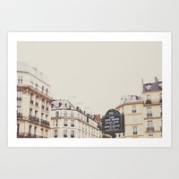 Place Sartre Beauvoir Art Print