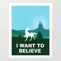 I WANT TO BELIEVE - Unic… Art Print