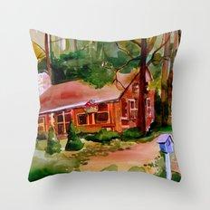 Little Log Cabin Throw Pillow