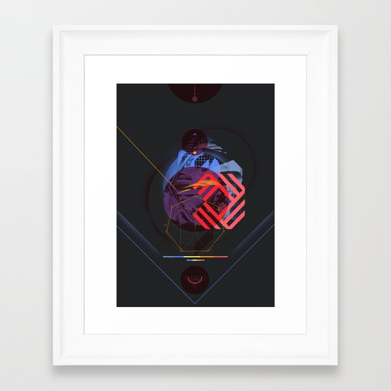 Chaotic Polygon Ensemble Framed Art Print