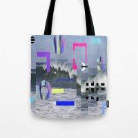 Geometric Wavez Tote Bag