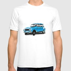 Renault 4L Mens Fitted Tee SMALL White