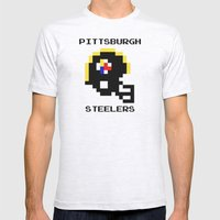 Old School Pittsburgh Steelers Mens Fitted Tee Ash Grey SMALL