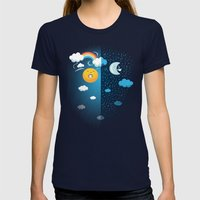 Night and Day Womens Fitted Tee Navy SMALL