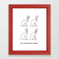 The Probability Magnet (with text) Framed Art Print