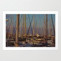 Cyprus Port Art Print