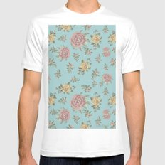 Mantón Azul SMALL White Mens Fitted Tee