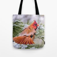 Christmas Cardinal. Tote Bag