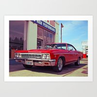 Impala Red Art Print