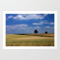 Wheat Field- JUSTART © Art Print
