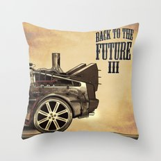 Back to the future III Throw Pillow
