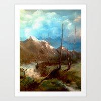 Soguk Nehir Art Print