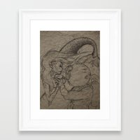 First Encounter  Framed Art Print