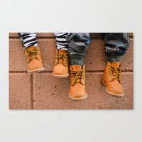 Boots, Two Boys Canvas Print