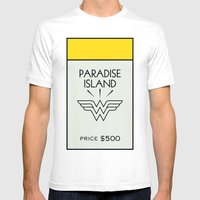 Paradise City Monopoly Location Mens Fitted Tee White SMALL