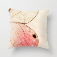 Pink Glasswing 1 Throw Pillow