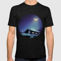 Winter Nights Mens Fitted Tee Tri-Black SMALL