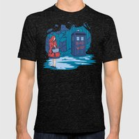 Big Bad Wolf Mens Fitted Tee Tri-Black SMALL