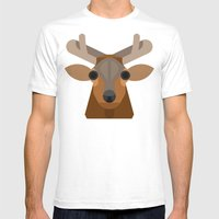 Elk Mens Fitted Tee White SMALL