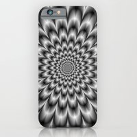 Chrysanthemum in Black and White iPhone 6 Slim Case