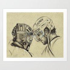 LA KINGS: Quick and Kopitar  Art Print