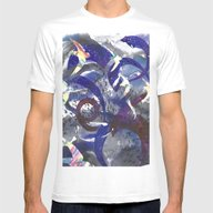 Swirling Swift Sky Mens Fitted Tee White SMALL