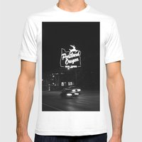 Portland BW Mens Fitted Tee White SMALL