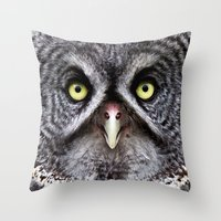 Great Gray Owl Throw Pillow