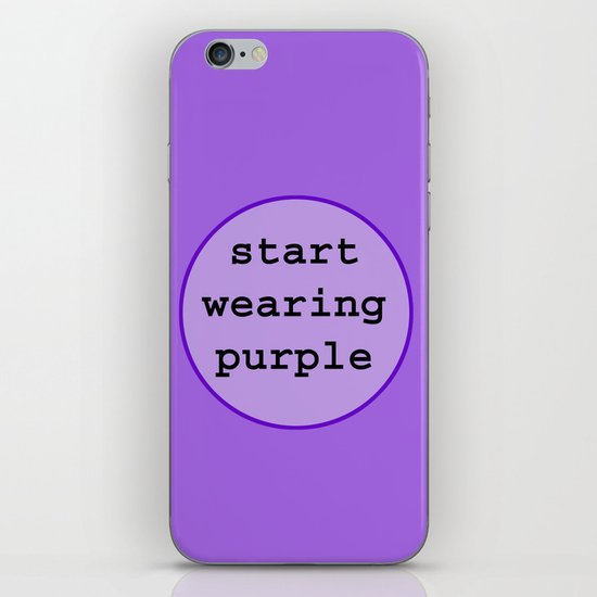 Start Wearing Purple iPhone & iPod Skin