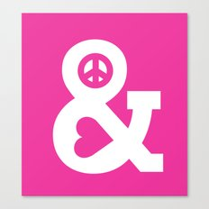 Peace And Love (pink Edi… Canvas Print