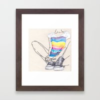 Roarie and Her Chucks Framed Art Print