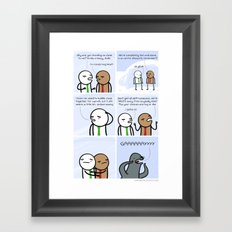 Antics #128 - survival instincts Framed Art Print