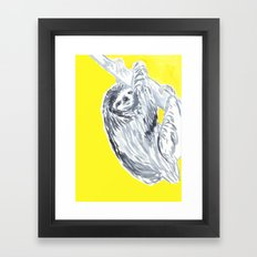 birthday sloth Framed Art Print