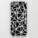 Abstract Outline Thick White on Black iPhone & iPod Case