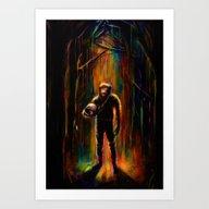 Art Print featuring Commander Chimp by Nicebleed