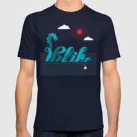 It's An Adventure! Mens Fitted Tee Navy SMALL