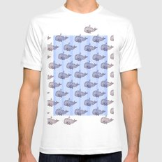 Pod of Whale Mens Fitted Tee SMALL White