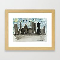 city scene Framed Art Print