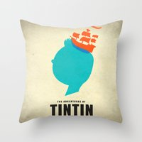 THE ADVENTURES OF TINTIN Throw Pillow