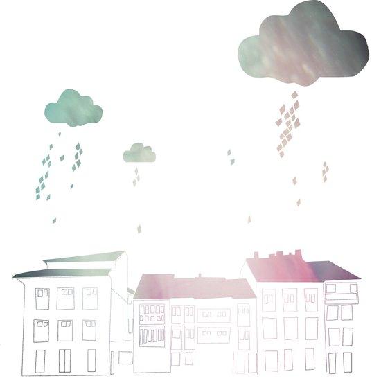Ongi Etorri, rain Art Print