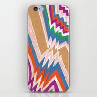 iPhone & iPod Skin featuring wonky chevron by ronnie mcneil