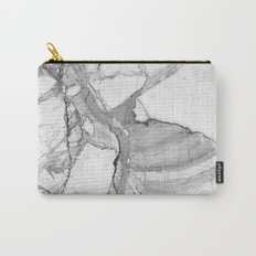 Grey marble Carry-All Pouch
