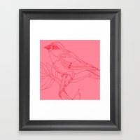 Pink Bird Framed Art Print