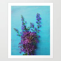 She Found Stray Flowers and Brought Them Home Art Print