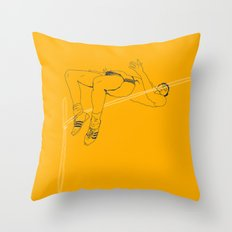 Fosbury jump Throw Pillow