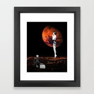Framed Art Print featuring Blood Moon by TRASH RIOT