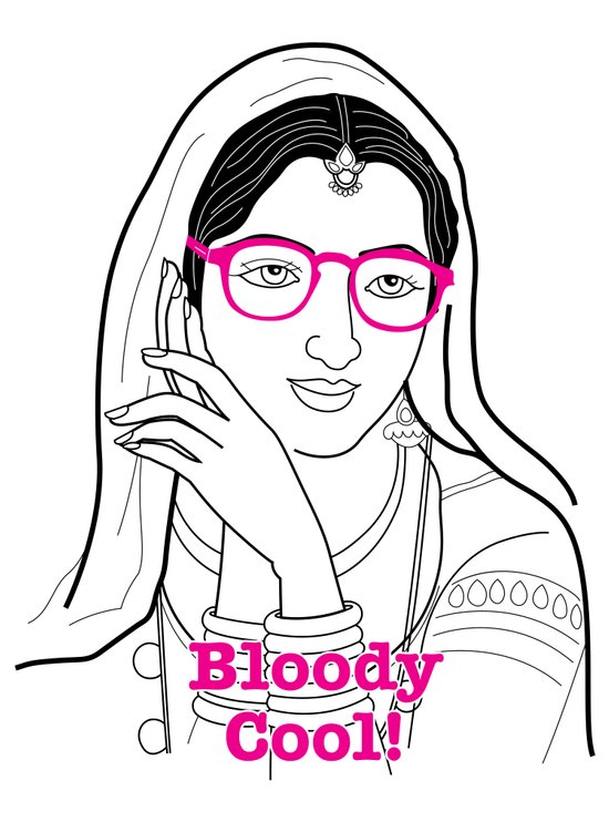 Bloody cool Indian girl Art Print