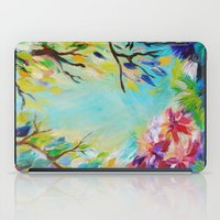 BLISS - Stunning Bold Colorful Idyllic Dream Floral Nature Landscape Secret Garden Acrylic Painting iPad Case
