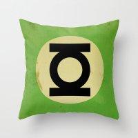 Green Lantern (Super Minimalist series) Throw Pillow